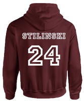 BEACON HILLS LACROSSE ON FRONT STILINSKI ON BACK HOODIE - INSPIRED BY TEEN WOLF